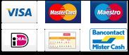 visa, mastercard, maestro, bancontact en overschrijving