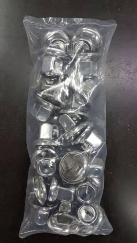 DelRoad wielmoerdopset kort INOX 32mm (20st)