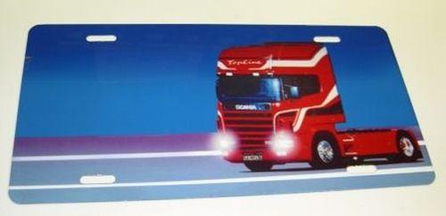 plaque bleu scania rouge nom tout pour votre voiture et camion delrue. Black Bedroom Furniture Sets. Home Design Ideas