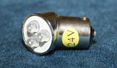 ampoule led 24v bajonet orange 45 ba15 3 led 1pc tout pour votre voiture et camion delrue. Black Bedroom Furniture Sets. Home Design Ideas