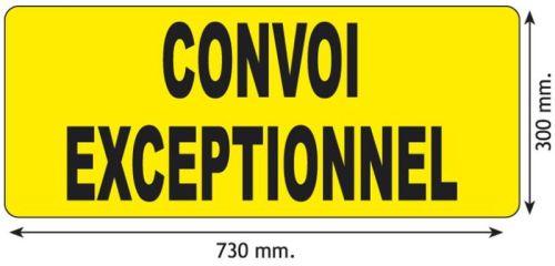 Panneau Alu Noir Jaune Quot Convoi Exceptionnel Quot 73x30cm