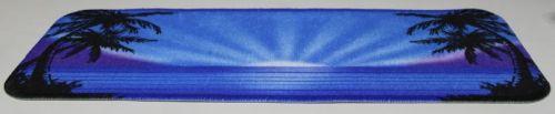 Tapis Tableau De Bord Palmier Bleu 20x60cm Tout Pour Votre Voiture Et Camion Delrue