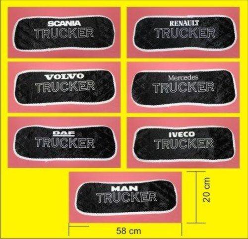 Tapis Tableau De Bord Noir Blanc Trucker Logo Texte Tout Pour Votre Voiture Et Camion Delrue