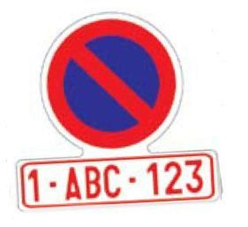 jeu signe stationnement interdit autocollant tout pour votre voiture et camion delrue. Black Bedroom Furniture Sets. Home Design Ideas
