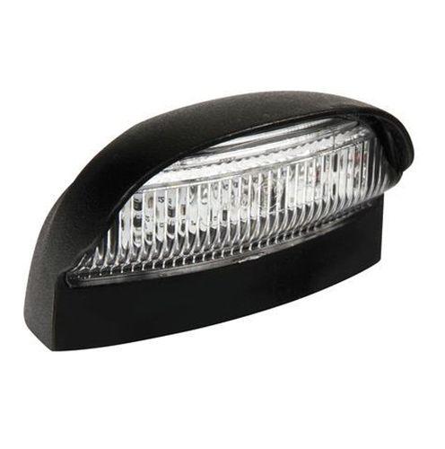 eclairage de plaque ovale noir avec4led blanc 10 30v tout pour votre voiture et camion delrue. Black Bedroom Furniture Sets. Home Design Ideas