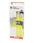 Werkhandschoenen SOS fluo geel/leder