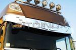 Zonneklep inox LED  DAF XF 105, XF106 Euro 6