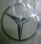 Kleverset MERCEDES logo 20 cm chroom - 2 stuks
