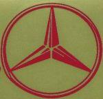 Kleverset MERCEDES logo 20 cm rood- 2 stuks