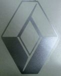 Kleverset RENAULT logo 20 cm metallic - 2 stuks