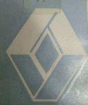 Kleverset RENAULT logo 20 cm wit -2 stuks