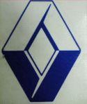 Kleverset RENAULT logo 20 cm blauw- 2 stuks