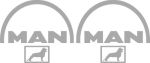 Kleverset MAN logo 20 cm metallic -2 stuks