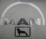Kleverset MAN logo 20 cm chroom - 2stuks