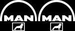 Kleverset MAN logo 20 cm wit - 2 stuks