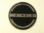 Logo rond Mercedes dia 70 mm zwart/silver