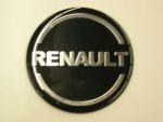 Logo rond Renault dia 70 mm zwart/silver