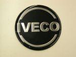 Logo rond Iveco dia 70 mm zwart/silver