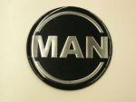 Logo rond Man dia 70 mm zwart/silver