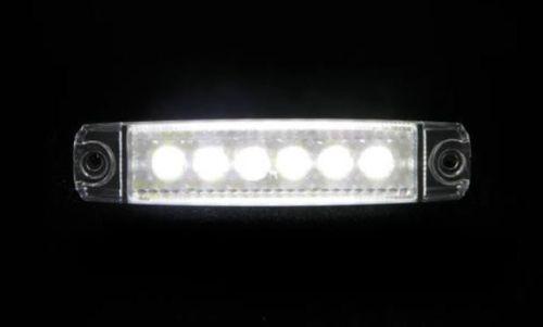 Markeerlicht 6LED wit plat 12V/24V