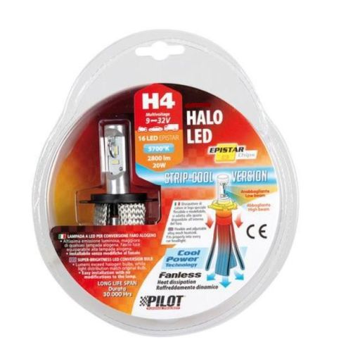 Ledlamp H4 5700K 9-32V 16LED 20W