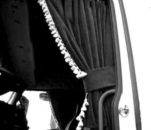 Dl Rideaux Lateraux 90 Cm Franges Blanc Elg Noir Tout Pour Votre