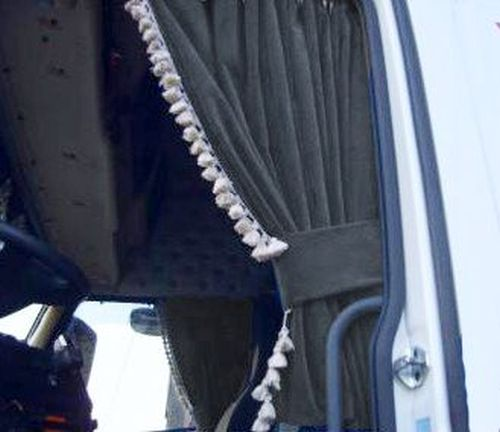 DL Rideaux latéraux 110cm franges blanc ELG gris - Tout pour votre ...