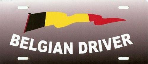 plaque mod le america belgian driver drapeaux tout pour votre voiture et camion delrue. Black Bedroom Furniture Sets. Home Design Ideas