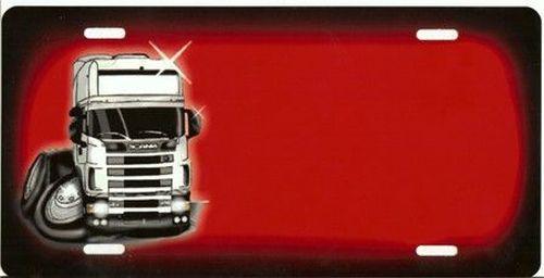 plaque rouge scania cartoon nom tout pour votre voiture et camion delrue. Black Bedroom Furniture Sets. Home Design Ideas