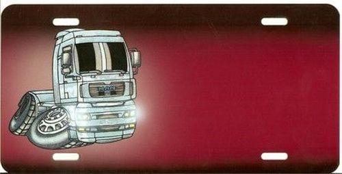 plaque rouge man cartoon nom tout pour votre voiture et camion delrue. Black Bedroom Furniture Sets. Home Design Ideas