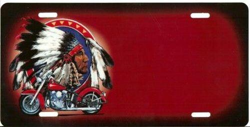 plaque rouge indien moto nom tout pour votre voiture et camion delrue. Black Bedroom Furniture Sets. Home Design Ideas