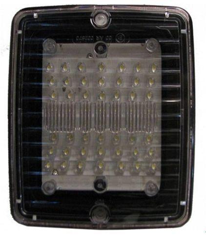 Achteruitrijlicht met 56LED transparant rechthoekig 24V