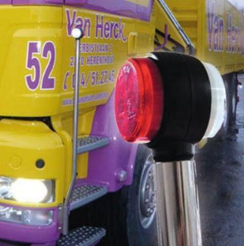 Bumperpeilerset inox LED rood/wit 12V-24V