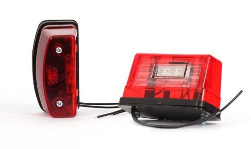 Nummerplaatverlichting LED rood groot 10-30V (per stuk)