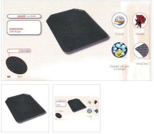Tapijt universeel rubber zwart 44x55cm