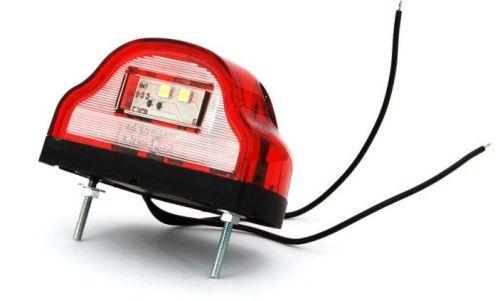eclairage de plaque rouge led 12v 24v ovale 1 pi ce tout pour votre voiture et camion delrue. Black Bedroom Furniture Sets. Home Design Ideas