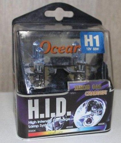 Lampenset 12V 55W/H1  HID super white xenon