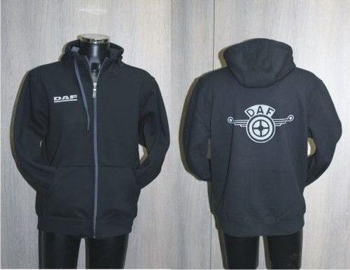 Fleece zwart/grijs high-quality DAFmaat XXXL