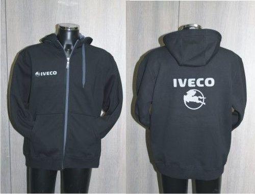 Fleece zwart/grijs high-quality IVECO maat L