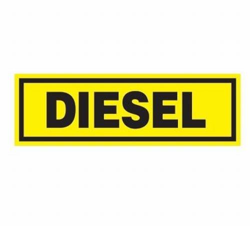 plaque pvc diesel 50x16cm jaune noir tout pour votre voiture et camion delrue. Black Bedroom Furniture Sets. Home Design Ideas