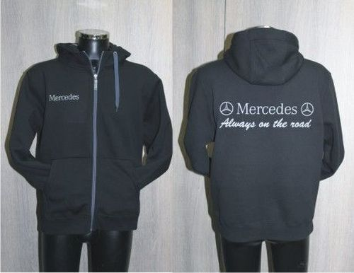 Fleece zwart/grijs high-quality MERCEDES maat XL