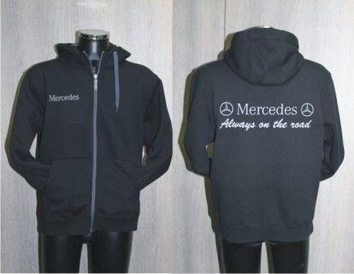 Fleece zwart/grijs high-quality MERCEDES maat L