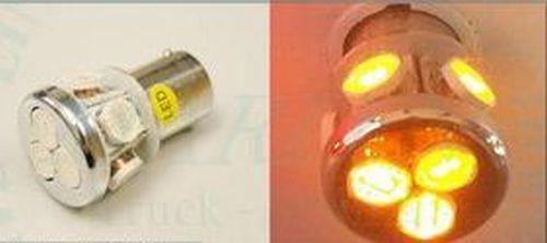 ampoule led smd 8led ba15 24v orange tout pour votre voiture et camion delrue. Black Bedroom Furniture Sets. Home Design Ideas