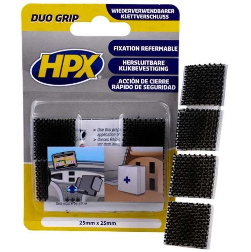 hpx duo grip velcro fixation refermable 25mmx25mm tout. Black Bedroom Furniture Sets. Home Design Ideas