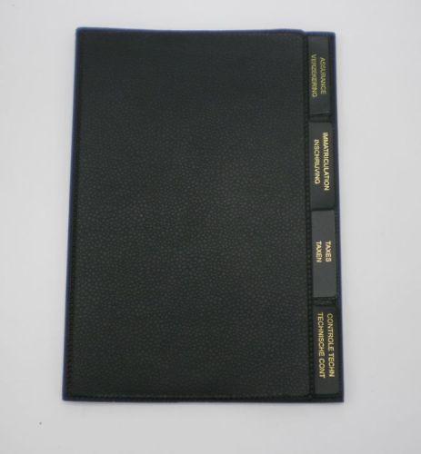 porte documents black 22 5x16cm tout pour votre voiture et camion delrue. Black Bedroom Furniture Sets. Home Design Ideas