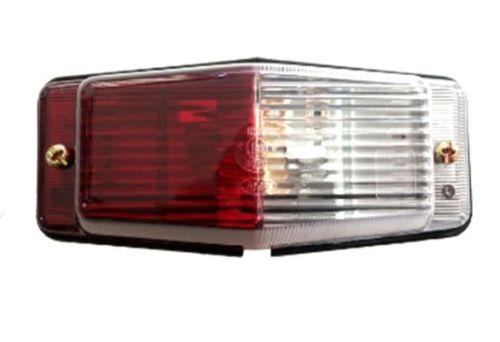 Markeerlamp rood/wit met dubbele lamp