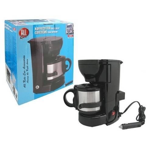 cafeti re lectrique noir 2 tasses300w 24v tasse isotherme tout pour votre voiture et camion. Black Bedroom Furniture Sets. Home Design Ideas