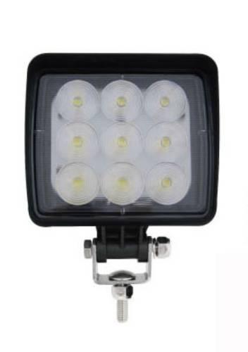 Werklamp 9LED vierkant 11x12cm 12V-36V 1512Lumen