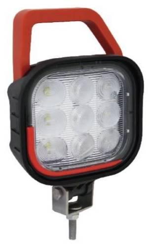 Werklamp + handvat 9LED 11x12cm 12V-36V 2160Lumen