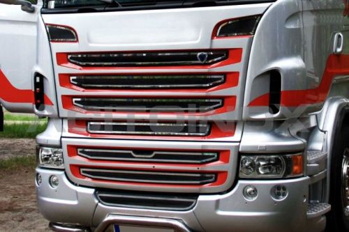 inox application grille contour scania r2 9pi ces tout pour votre voiture et camion. Black Bedroom Furniture Sets. Home Design Ideas